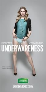 Depend print Hilary Underwareness
