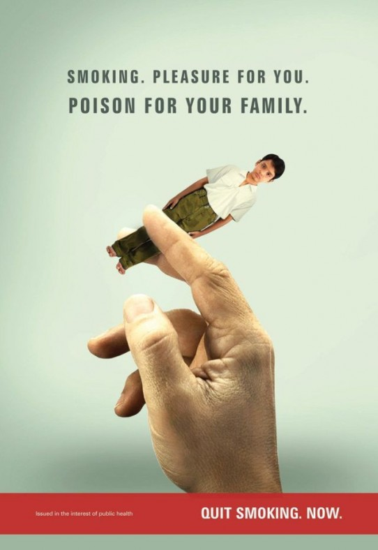 Ad Equates Smoking with Turning Our Kids to Ash