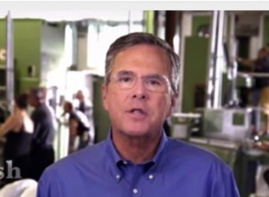 The ad gives Bush the chance to be the man he wants to be.