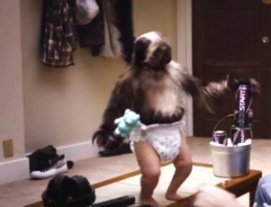 Puppy, Monkey, Baby: Kickstart's Creepy Combination